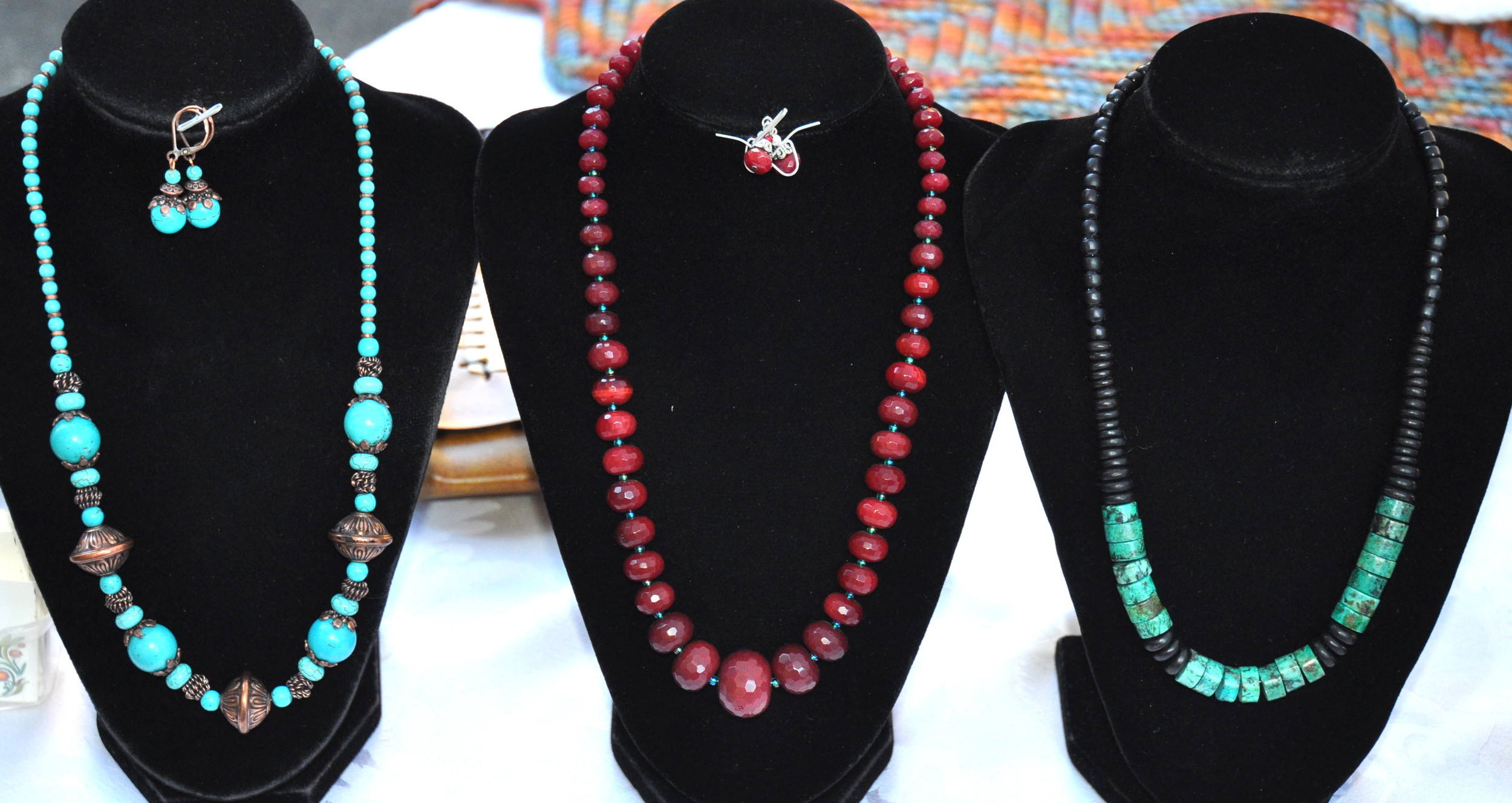 Beautiful, unique necklaces from Gypsy Beaded Creations at Ballard Farmers Market. Copyright Zachary D. Lyons.