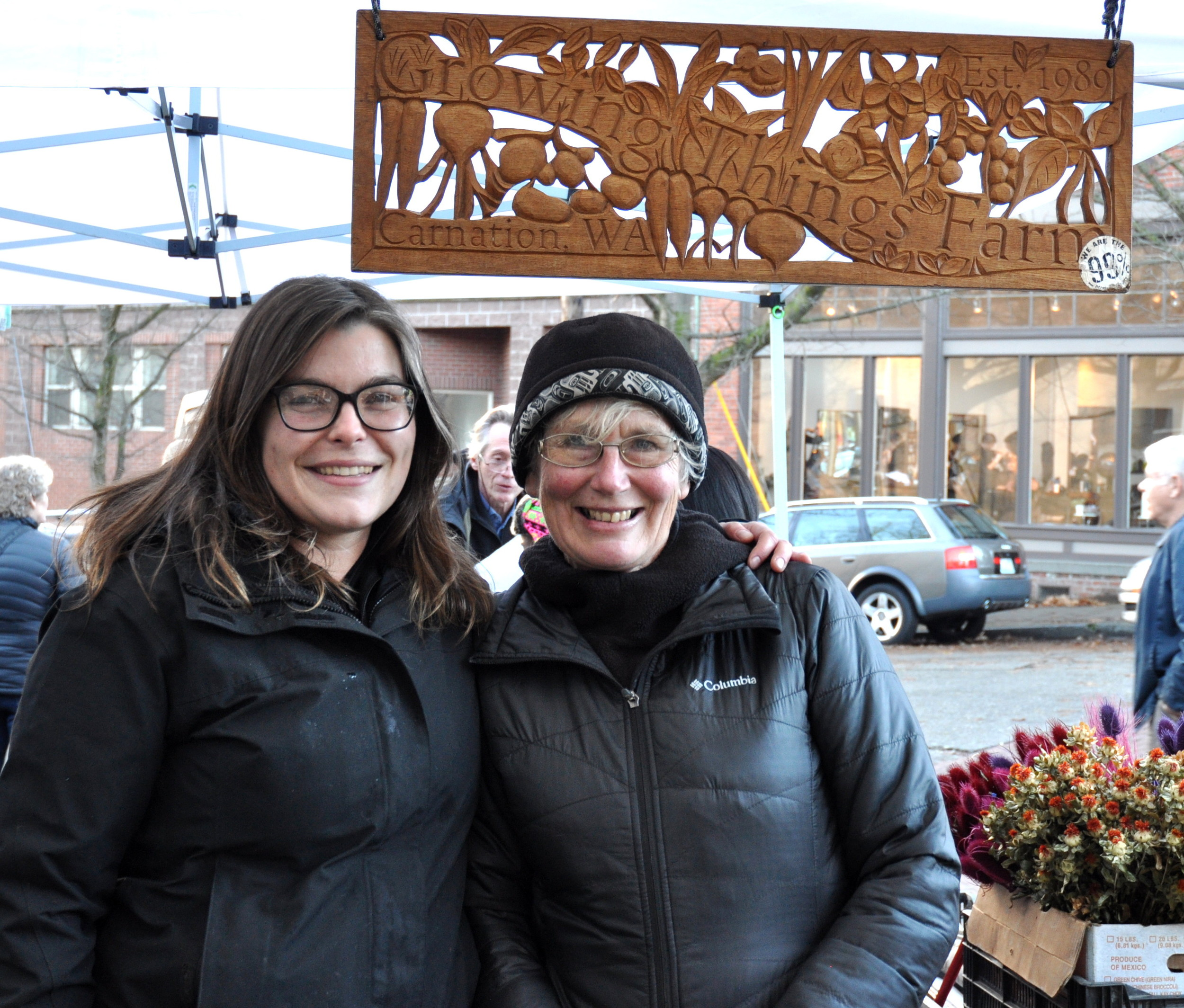 Marina & Michaele from Growing Things Farm at Ballard Farmers Market. Copyright Zachary D. Lyons.