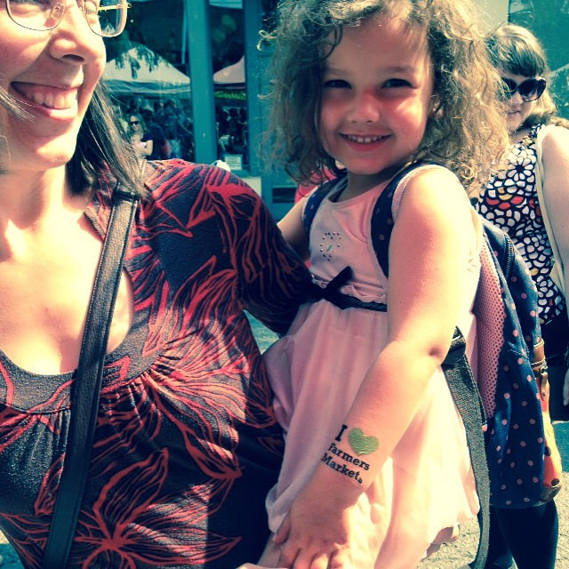 Happily tattooed daughter with her mom at Ballard.