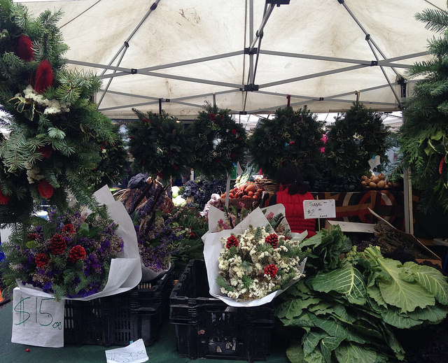Seasonal bouquets and wreaths from Farmer Chai Cha of Shong Chao's Farm.