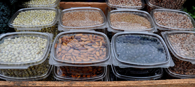 Various dried beans from Kirsop Farm.