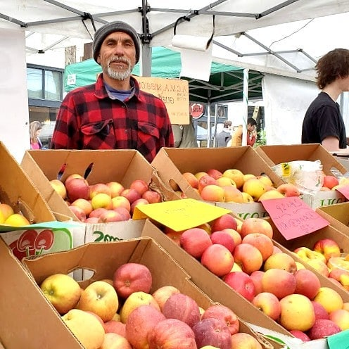 Roberto at A.C.M.A. Mission Orchard has weathered the winter at Ballard and is ready for the new bounty that is on the way at the farm.  Visit him on Sunday to find out what will be at the market first this season.