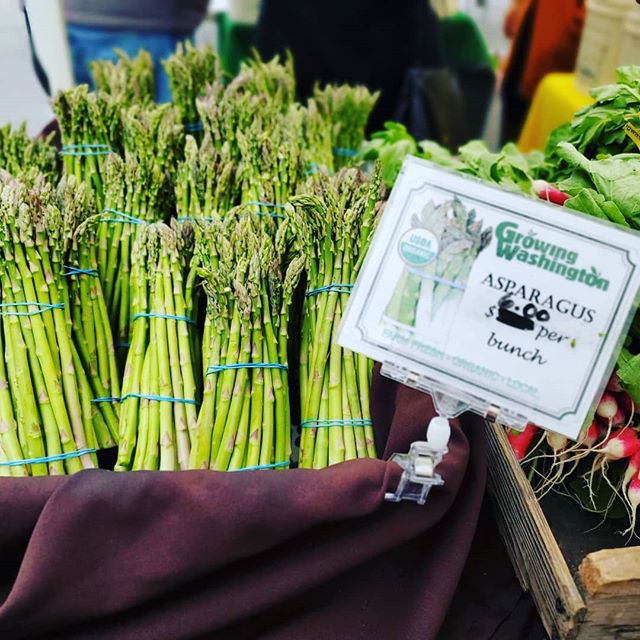 The first asparagus of the season has arrived! Pass it on...