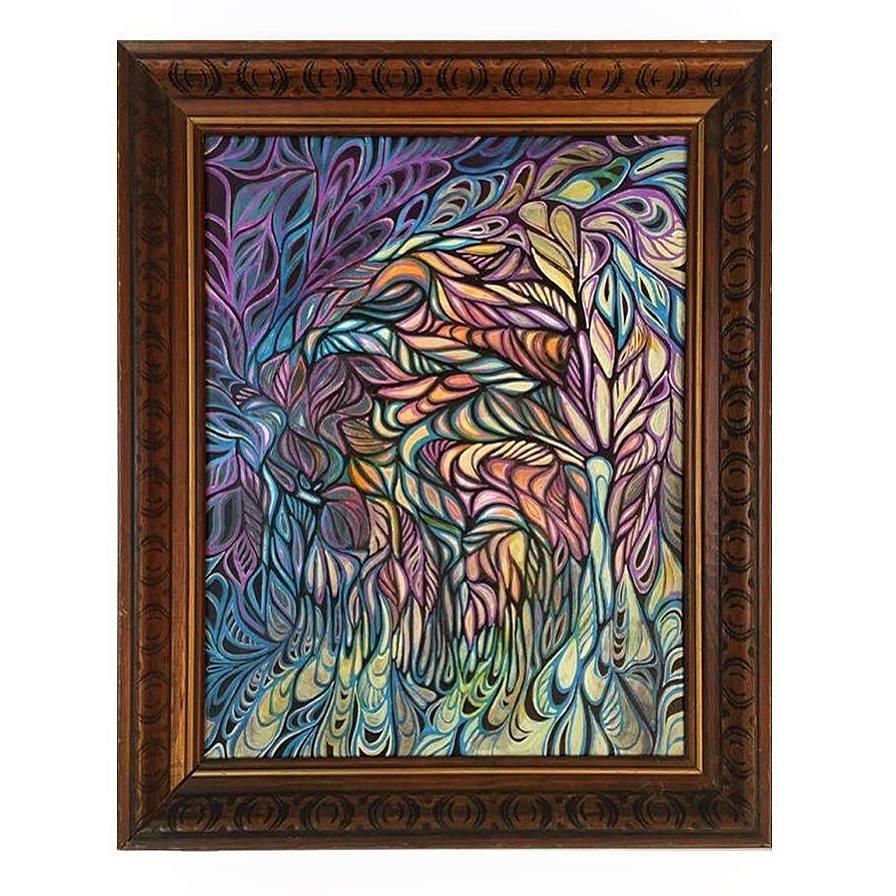 (Sold) 16'' x 20'' Acrylic on canvas.