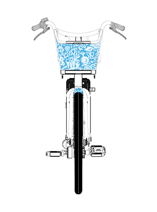 INSpirtation for the design:  Portland is home to me. I have grown up in Oregon. The main inspiration for my design was to create something that captures what the city means to me, and the things I find beautiful about it.  I chose to stick to a blue and white color scheme to compliment the orange BIKETOWN aesthetic. The blue is meant to tie into the water that connects the city, while keeping the imagery simple and relatable. I made my design so that it could be easily rotated and repeated, or it could be tiled together to contour to the form of the wrap. Additional white graphic elements could also be added as needed to fill gaps, or to showcase more things that I love about the city, while keeping them smaller in size so the elements don't get lost on the frame of the bike.  I plan to use this design opportunity to weave in symbols the Portland community can make connections to. Hopefully my design will simultaneously capture the modern, weird, active, adventurous, proud, kind and dynamic nature of the city I call home.