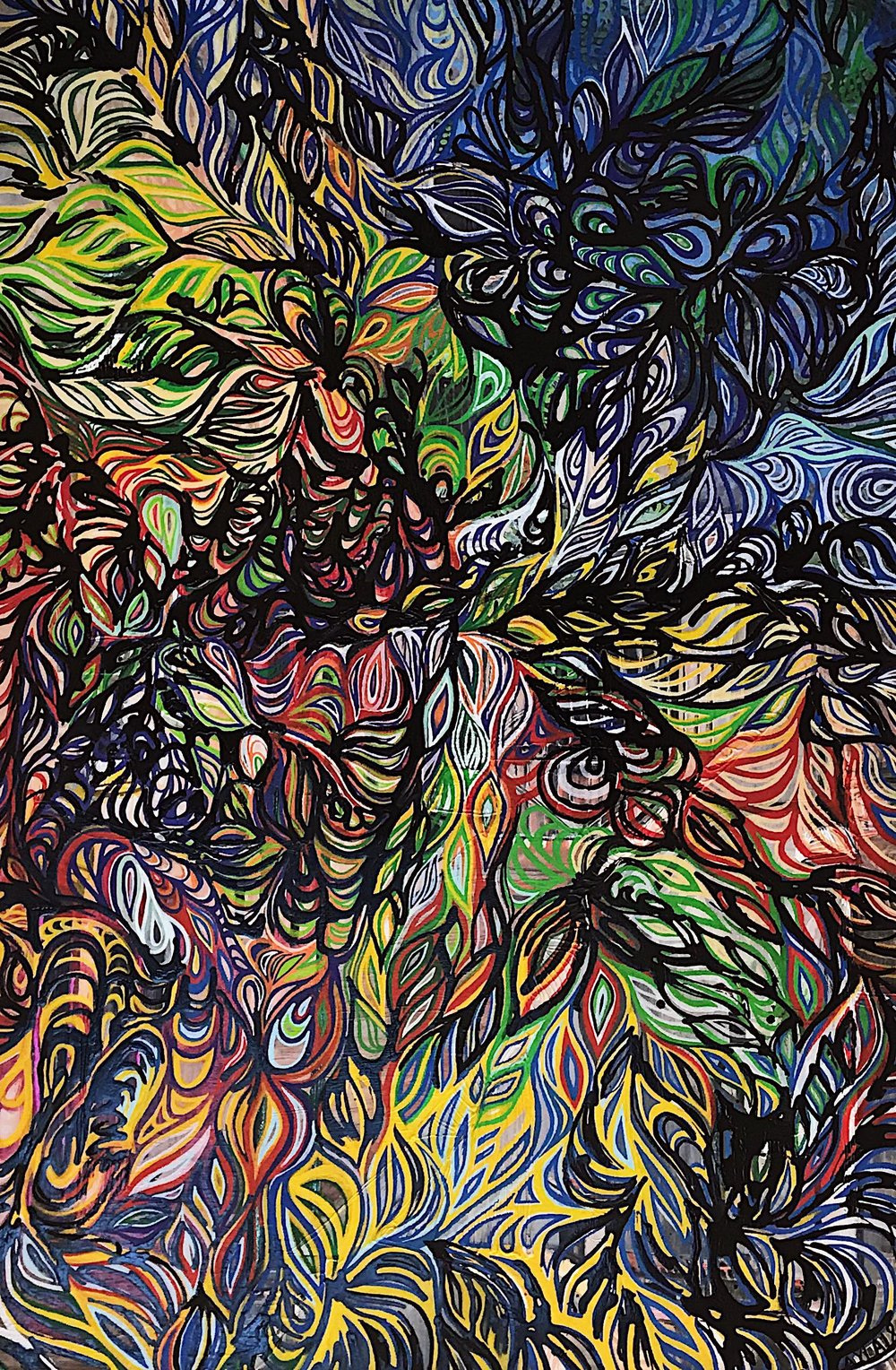 "(SOLD) 36""x54"" Acrylic on Canvas."