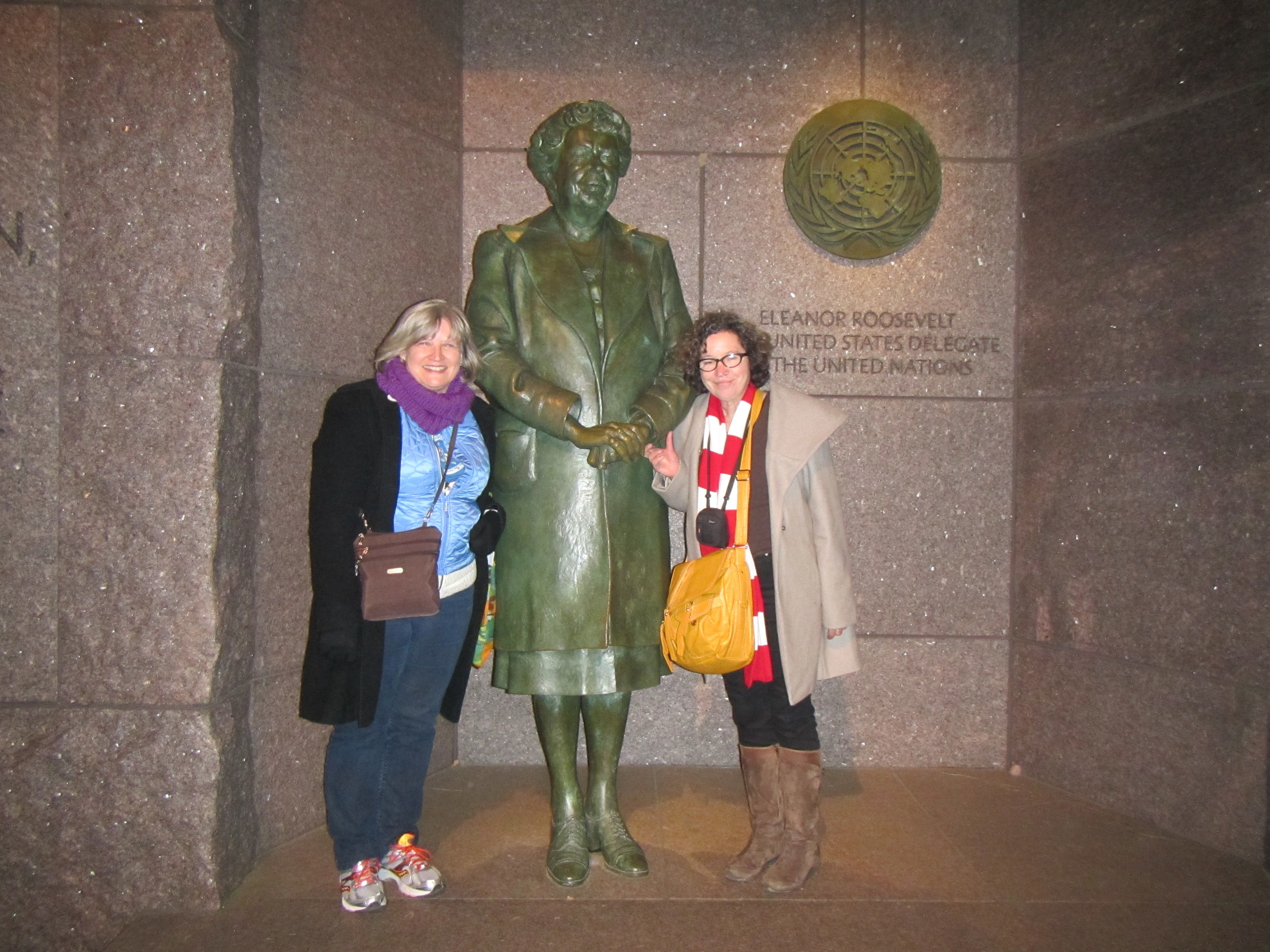 Standing in the shadow of great first lady Eleanor Roosevelt