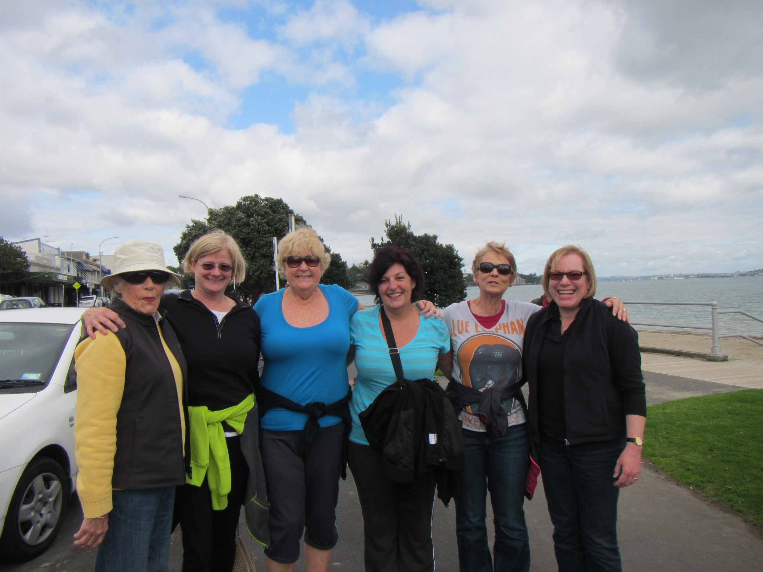 Ruth, LIsa, Pamela, Gabrielle, Deb and Betsy pause for a photo