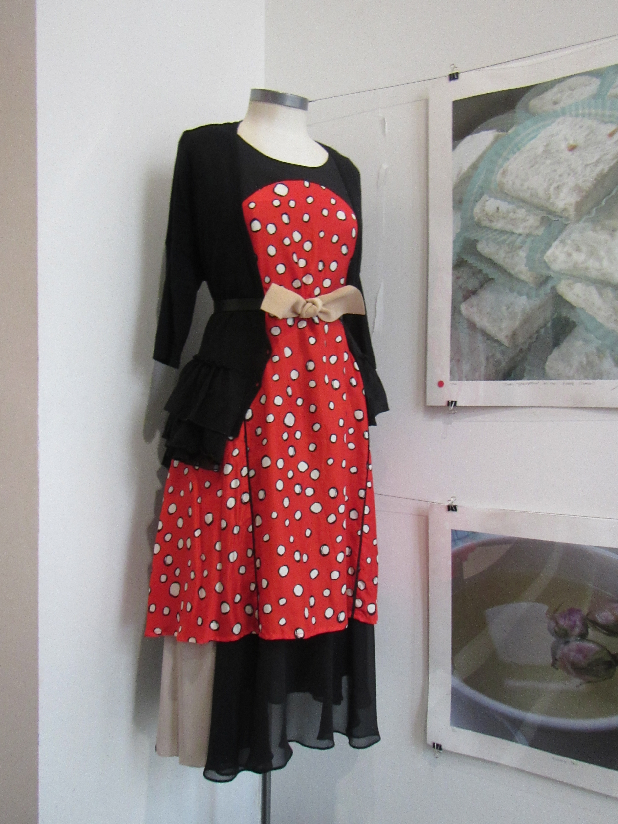 Lovely outfit at store foyer