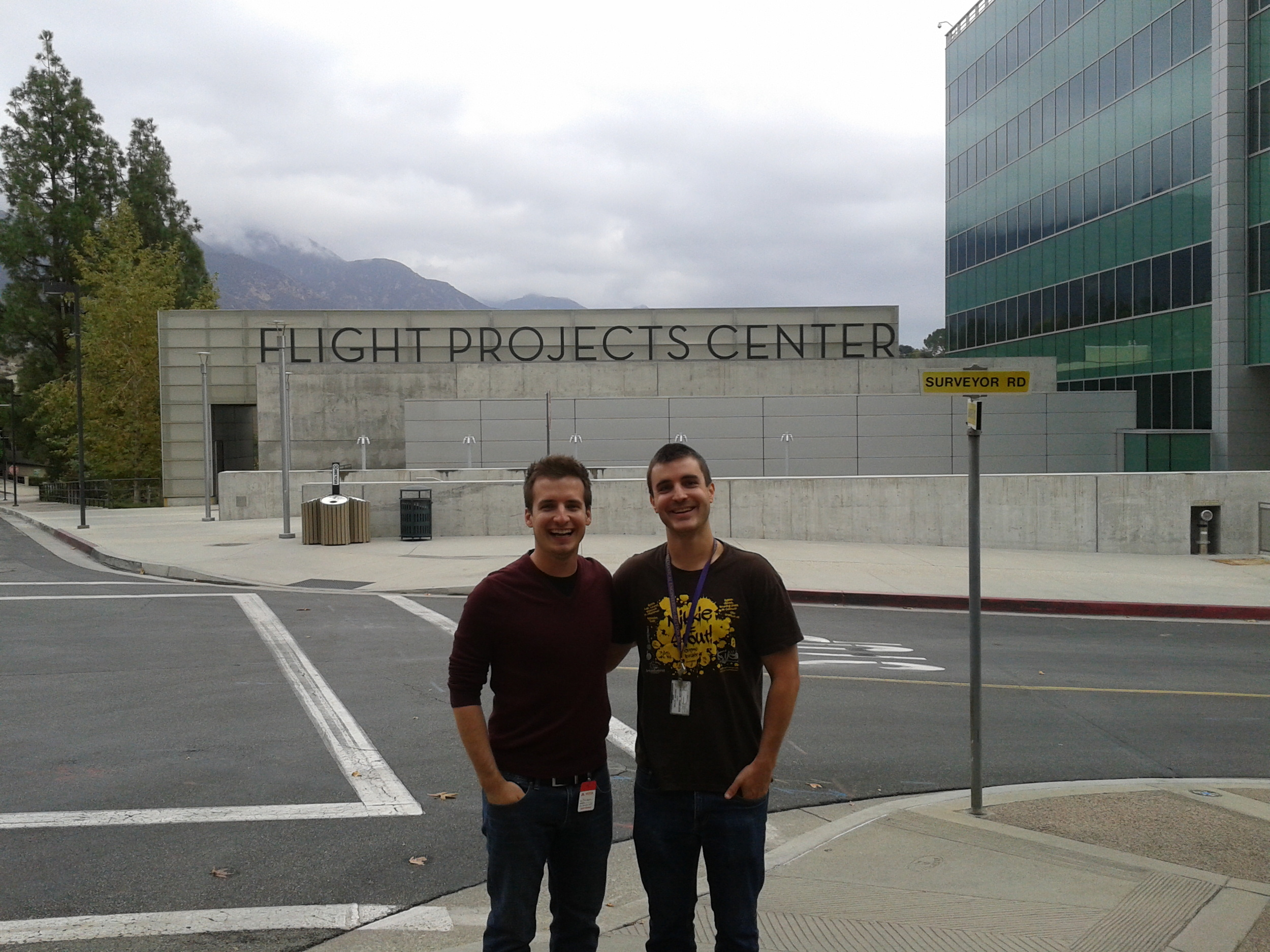Tevis and John Luke at JPL