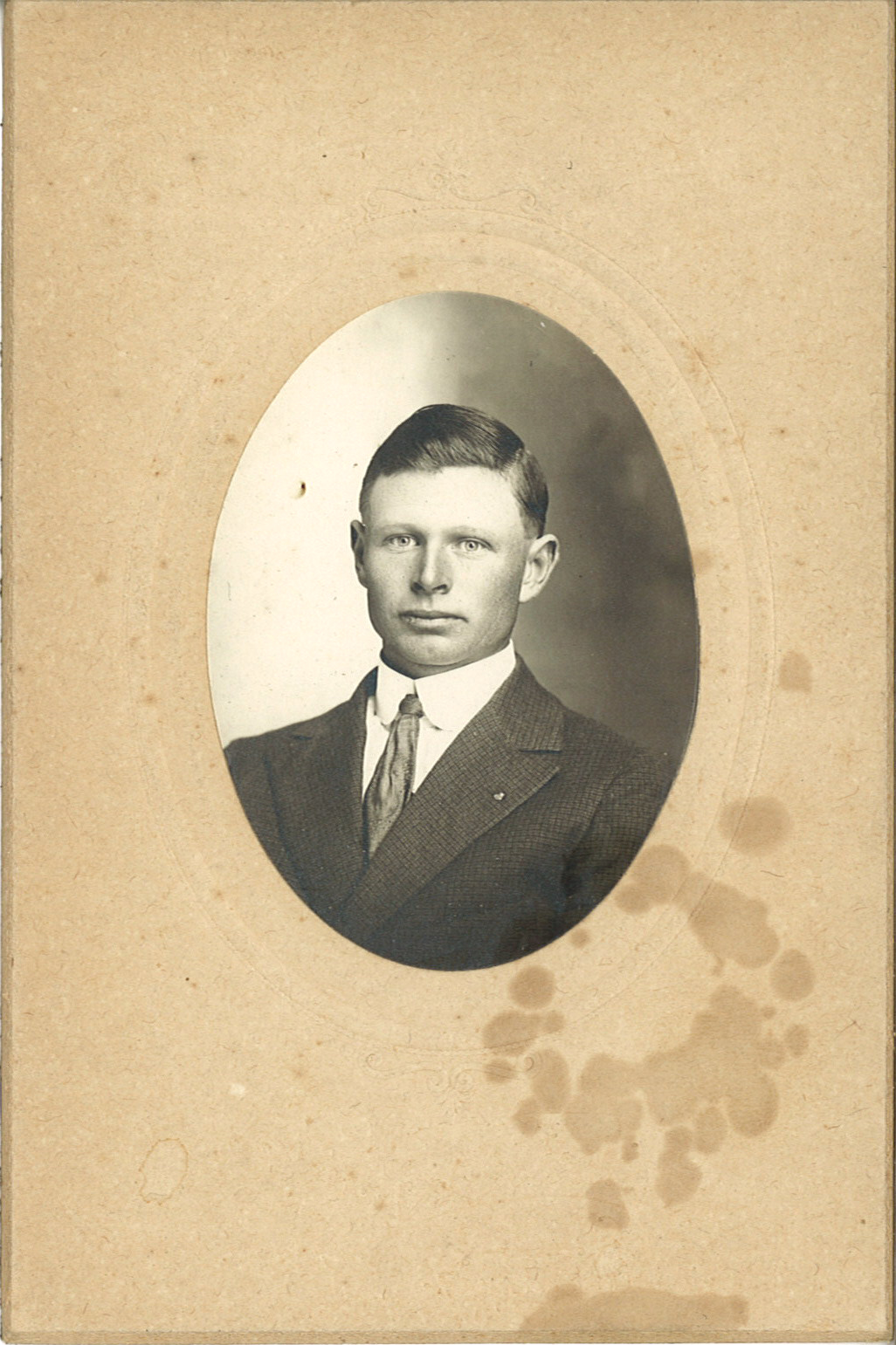 Frank E Denham circa sometime around 1915.