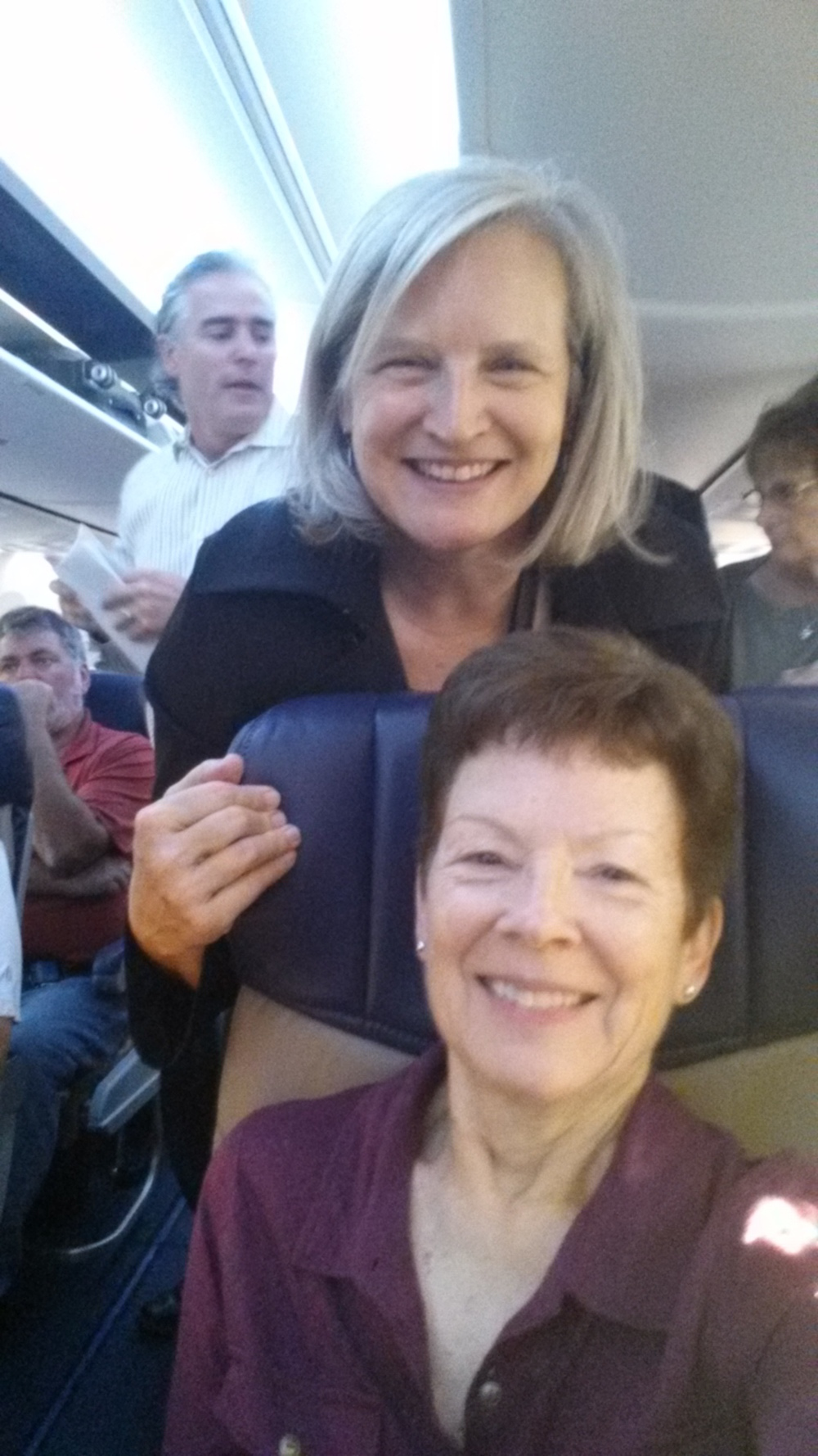 Julie and Jeanette on Southwest Airlines