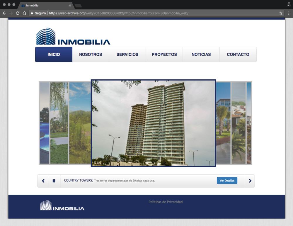 Sitio original en 2015