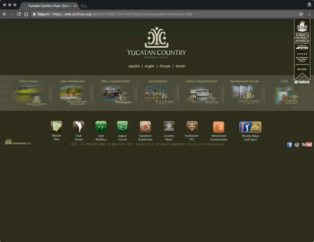 Sitio original de un desarrollo