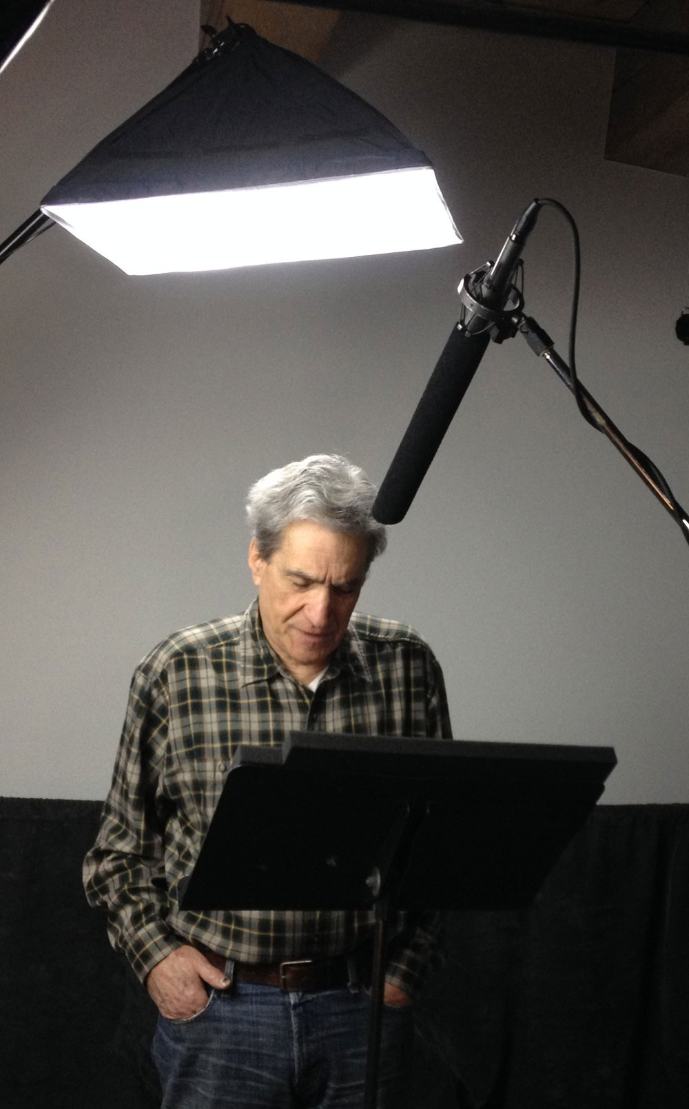 Behind the scenes: US Poet Laureate Robert Pinsky in the studio