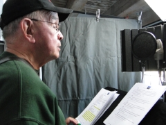 Behind the scenes: Voice Actor Rick Winterson as George Angell