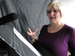 Behind the scenes: Voice Actor Souther as Lydia Maria Child