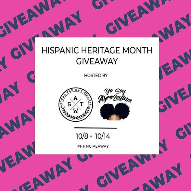 We've teamed up with our hermanas over at @YoSoyAfroLatina for Hispanic Heritage Month to give away a box full of goodies! We're talking FREE merch, books, and more💥 —— Here's How To Enter: you MUST be following @yosoyafrolatina and @atwgirl and tag 3 amigas in the comments below for a chance to win👇🏽 —— 1 lucky winner be announced on 10/15 ✨ good luck hermanas! #hispanicheritagemonth #giveaway #aroundthewaygirl #afrolatina #sheamoisture