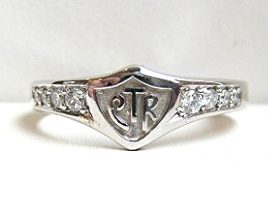 14k white gold and diamond CTR ring Bennion Jewelers
