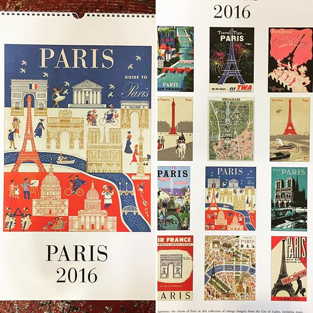 Drooling over @cavallinipapers Paris 2016 calendar -- only a few left in the shop! #downtownathensga #frontierfinds