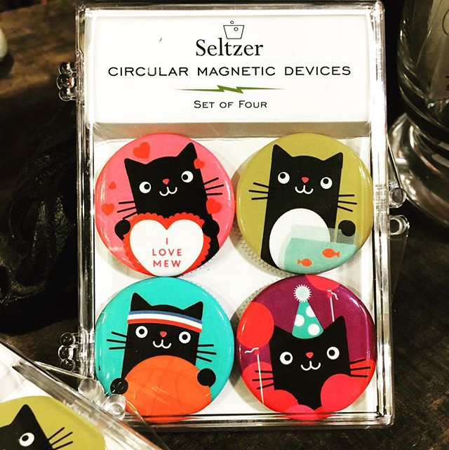 I love mew! Adorable magnet sets by @seltzergoods -- great for your Valentine!#catlady #frontierfun #frontierfavs