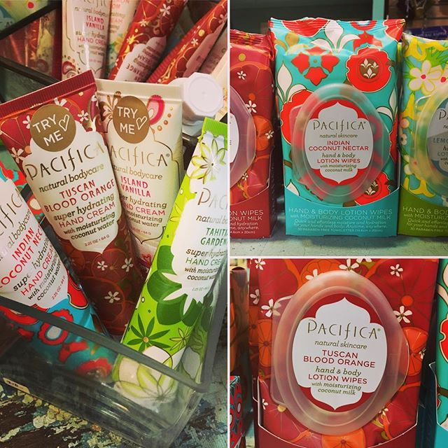 Purse sized #Pacifica hand creams and lotion wipes -- for on the go fragrance! #frontierfavs #athensga