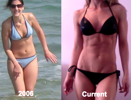 Here's my transformation: Back in 2006 I was counting calories, over-doing the cardio, and just had no idea how to lose fat and get lean. Now I eat plenty of delicious food, train smart, and find it easy to stay lean all year around.  THE DIFFERENCE IS MINDSET!