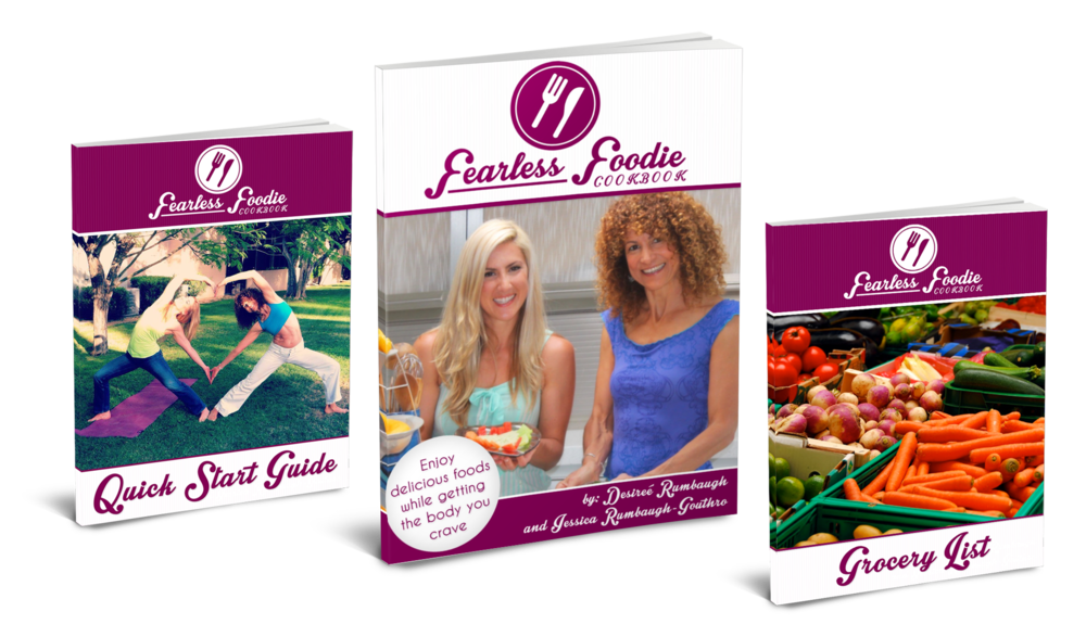 Grab your copy over at www.fearlessfoodiecookbook.com