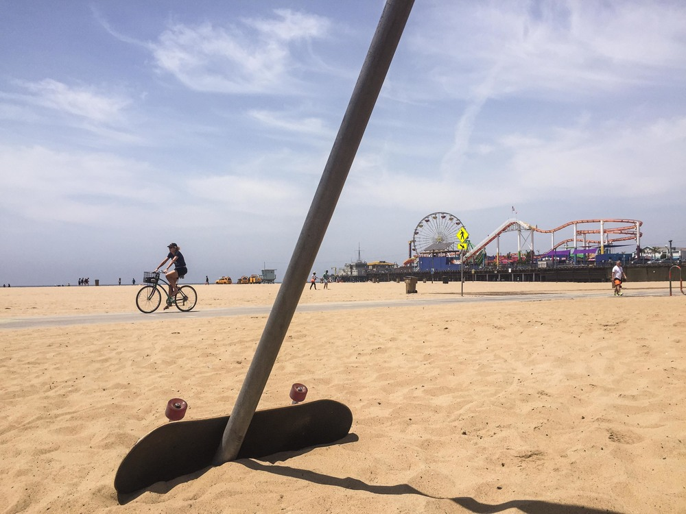 Santa Monica Pier in view