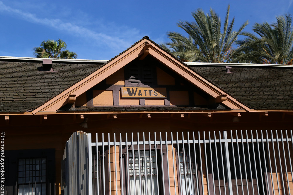 Historic Watts Station, just minutes from the Watts Towers Art Center