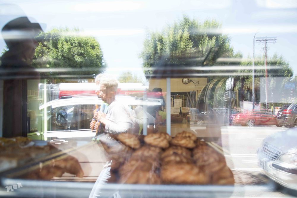 Reflection in an authentic hispanic bakery