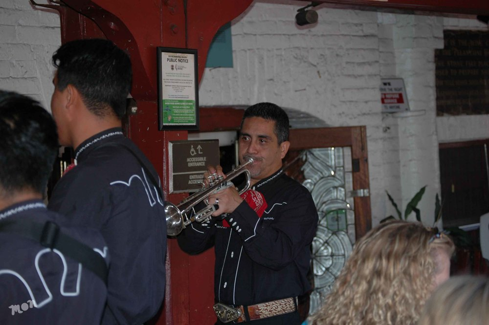 Mariachi entertaining visiters