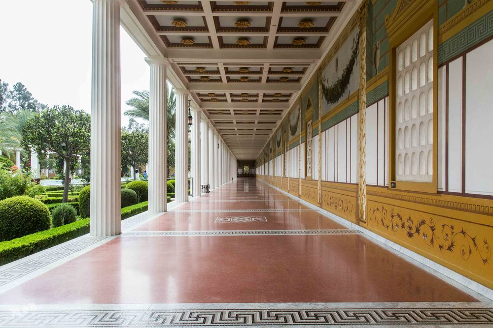 Colonnade at the Getty Villa