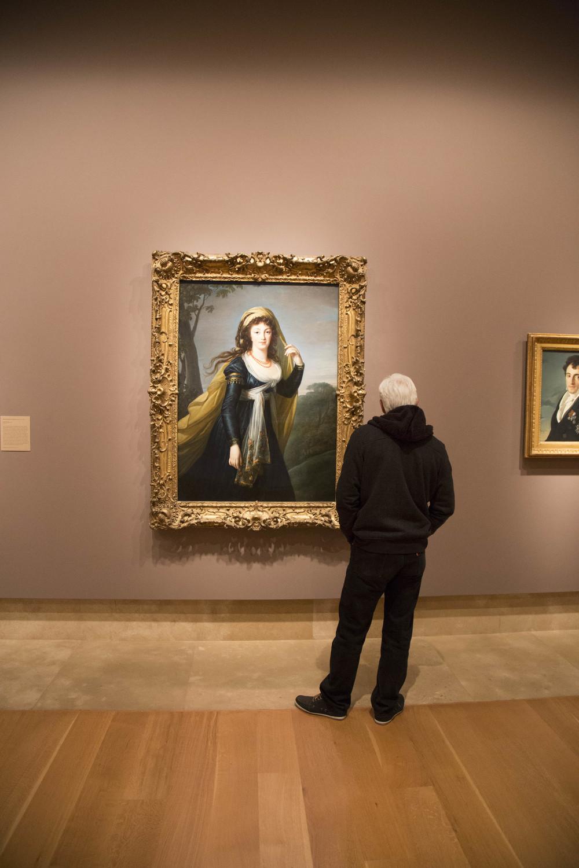Man enjoying art