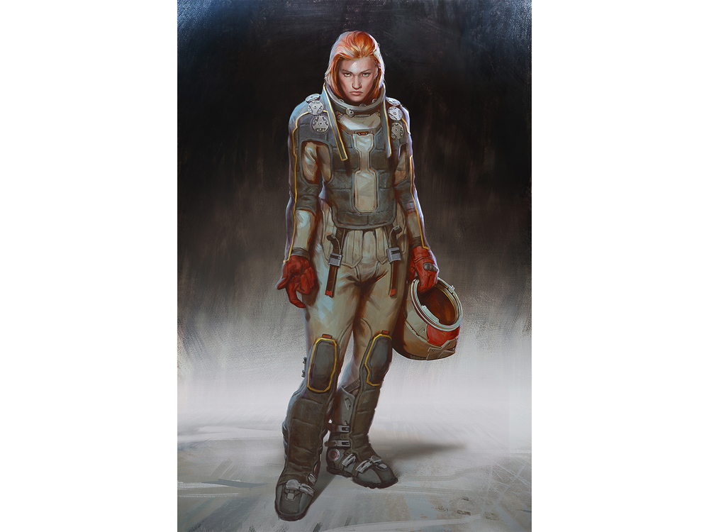 Lake Hurwitz - GREE - Shere - Sci-Fi Character concept art created for War of Nations.