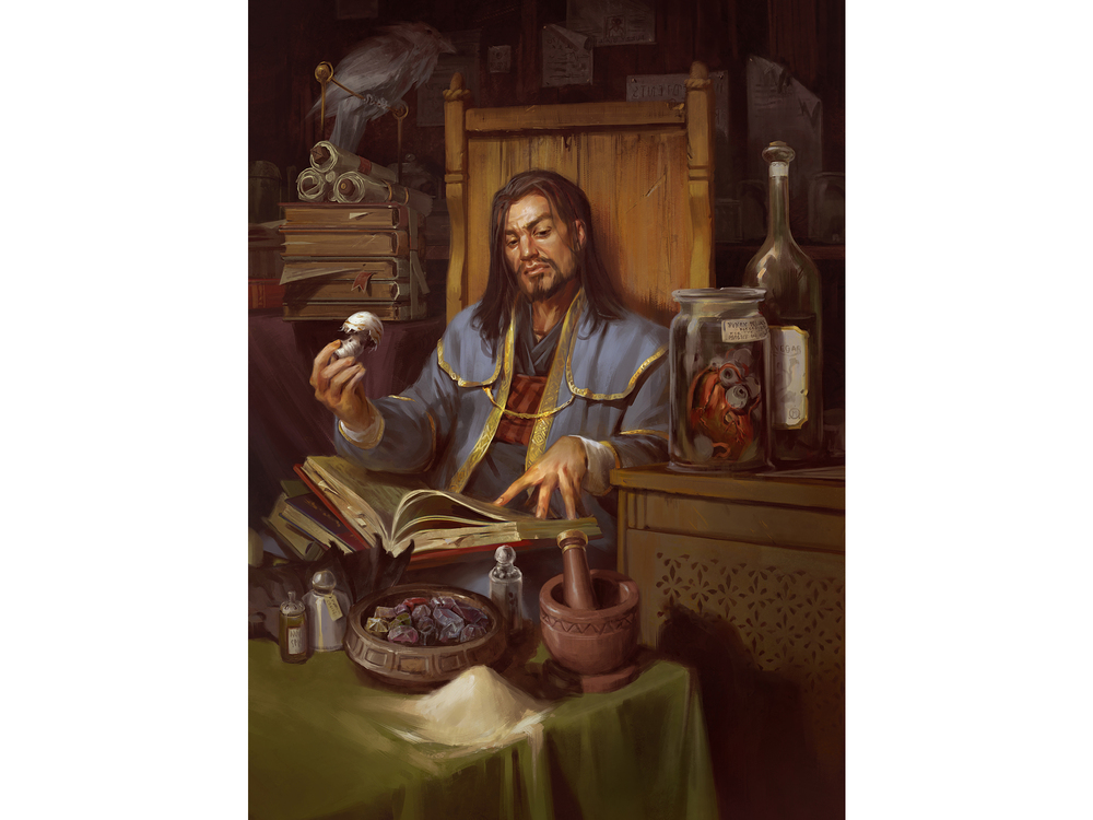 Lake Hurwitz - Spell Components - Fantasy illustration created for Dungeons and Dragons 5th edition by Wizards of the Coast.