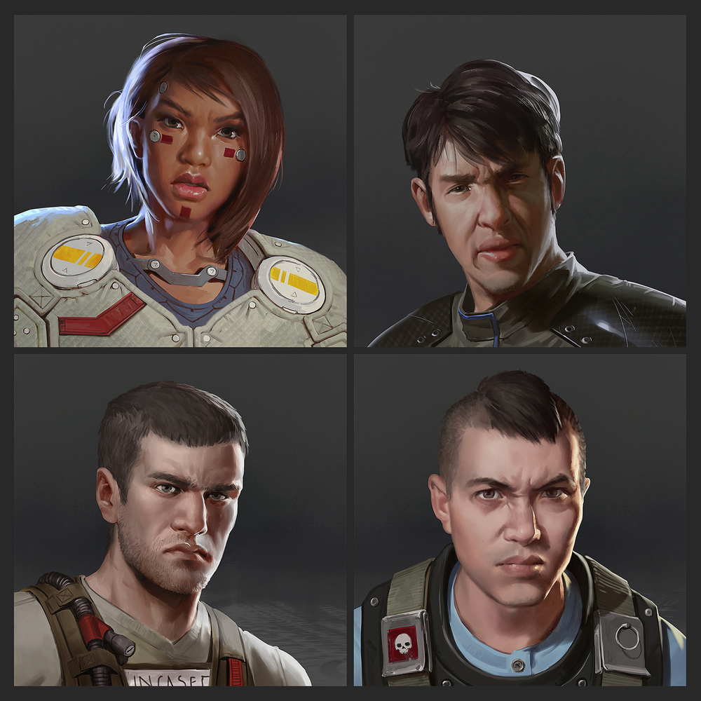 Lake Hurwitz - GREE - Command - Science Fiction commander portraits created for War of Nations.