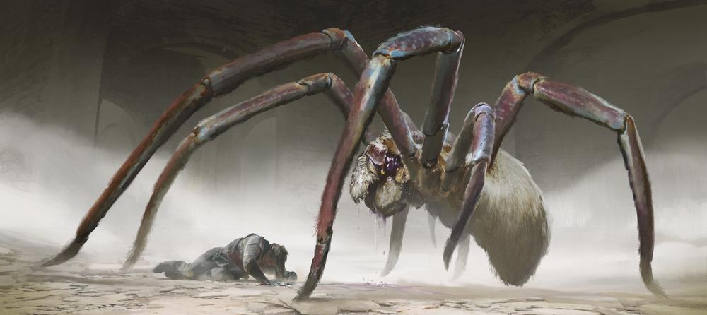 Lake Hurwitz - Ultima Underworld Giant Spider - Fantasy creature concept art created for the Ultima Underworld Ascendant Kickstarter through One Pixel Brush.