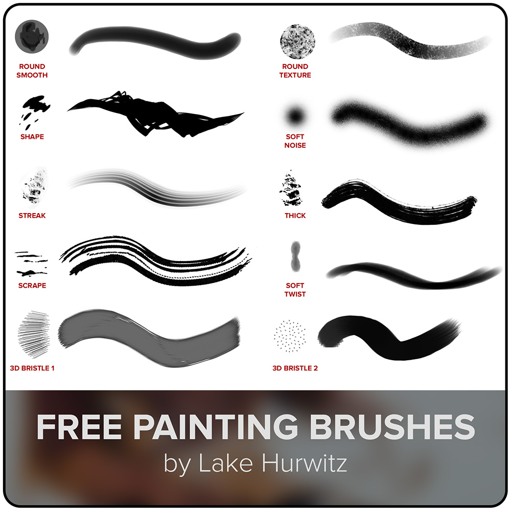 Lake Hurwitz - brush set