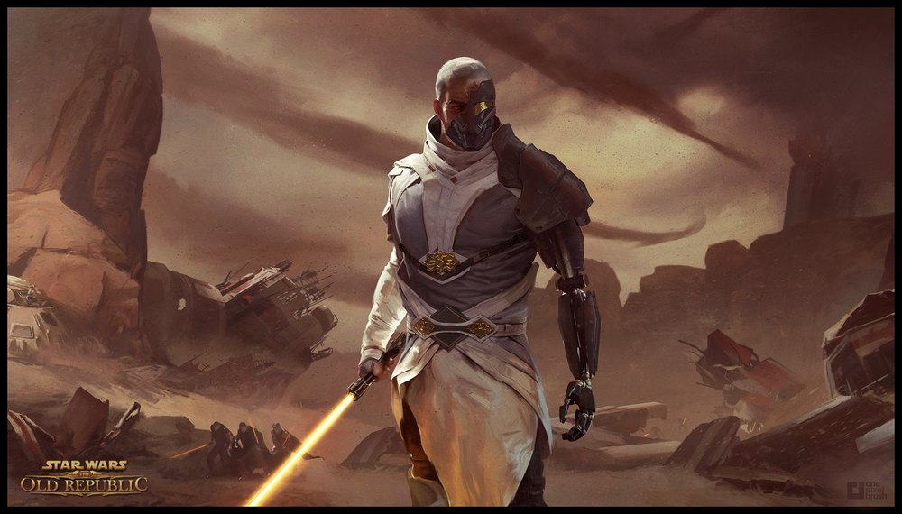 Lake Hurwitz - Arcann - SciiFi illustration concept art created through One Pixel Brush for Star Wars The Old Republic.