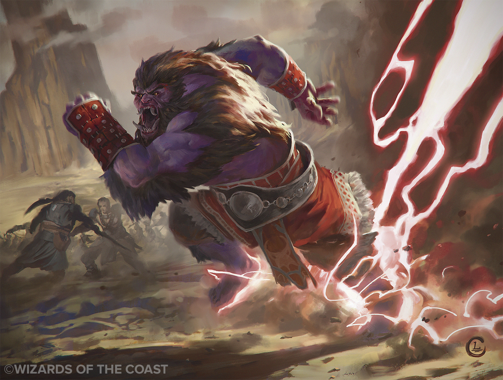 Lake Hurwitz - Sprinting Warbrute - Fantasy illustration created for Magic: the Gathering by Wizards of the Coast.