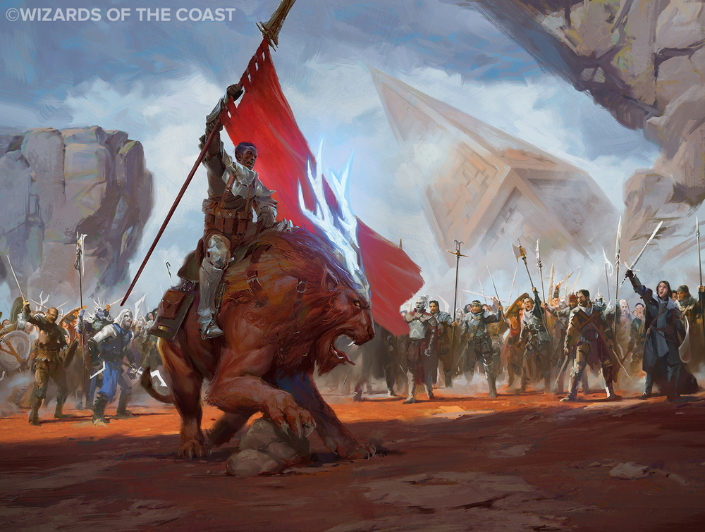 Lake Hurwitz - Hero of Goma Fada - Fantasy illustration created for Magic: the Gathering by Wizards of the Coast.