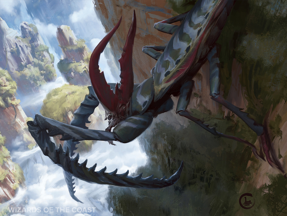Lake Hurwitz - Giant Mantis - Fantasy illustration created for Magic: the Gathering by Wizards of the Coast.