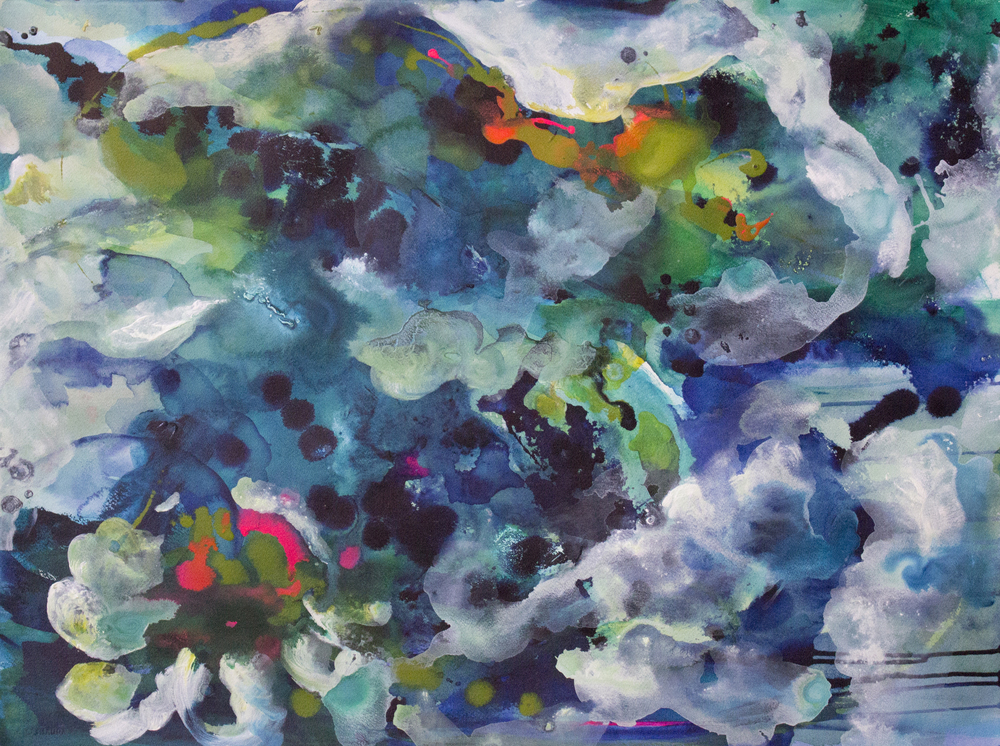 Sea 22 in. x 30 in. acrylic on paper  sold