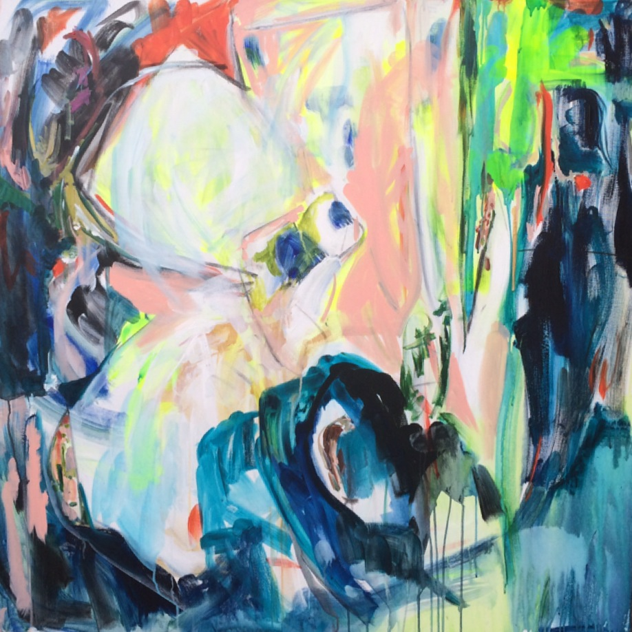 Eden 48 in. x 48 in. acrylic on canvas   sold
