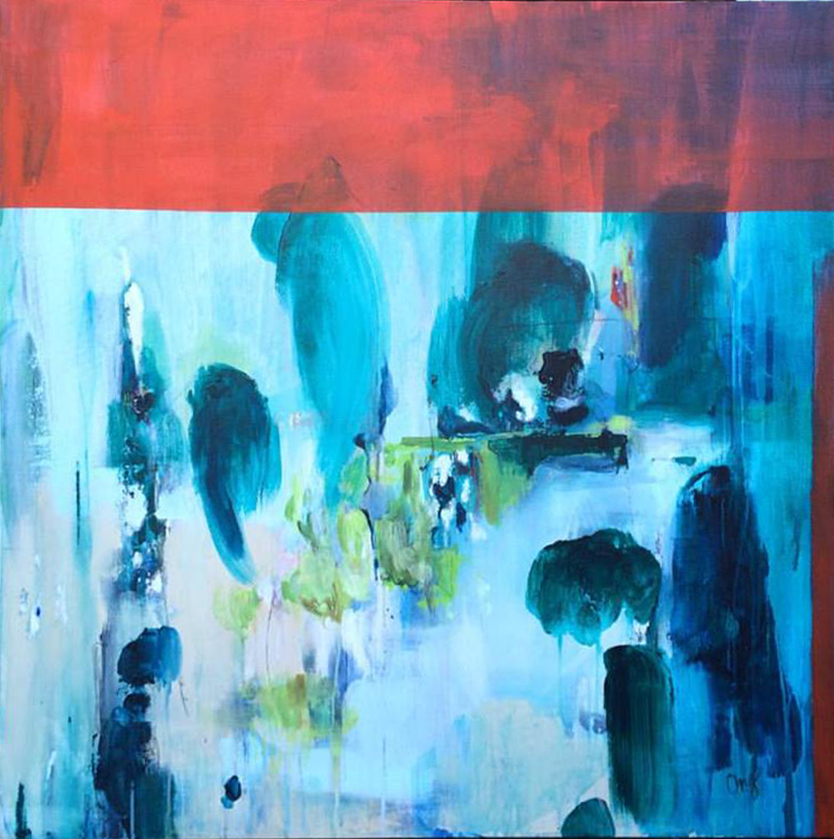 Landscape and Memory 40 in. x 40 in. acrylic on canvas   sold