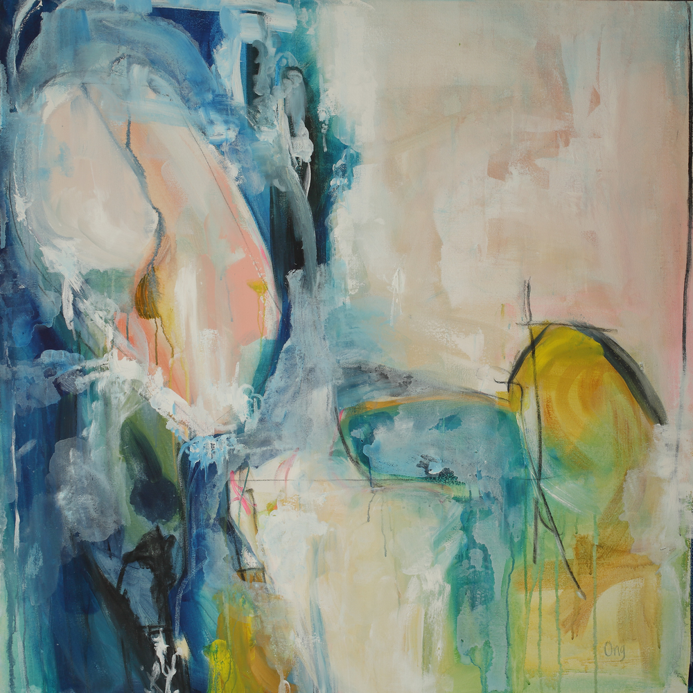 Habitat 48 in. x 48 in. acrylic, charcoal on canvas   sold
