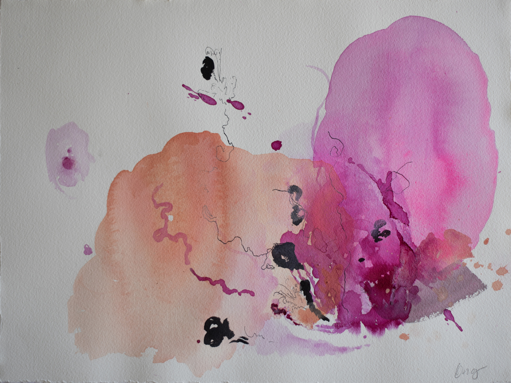 Abacos 1 16 in. x 22 in. acrylic, ink on paper   sold