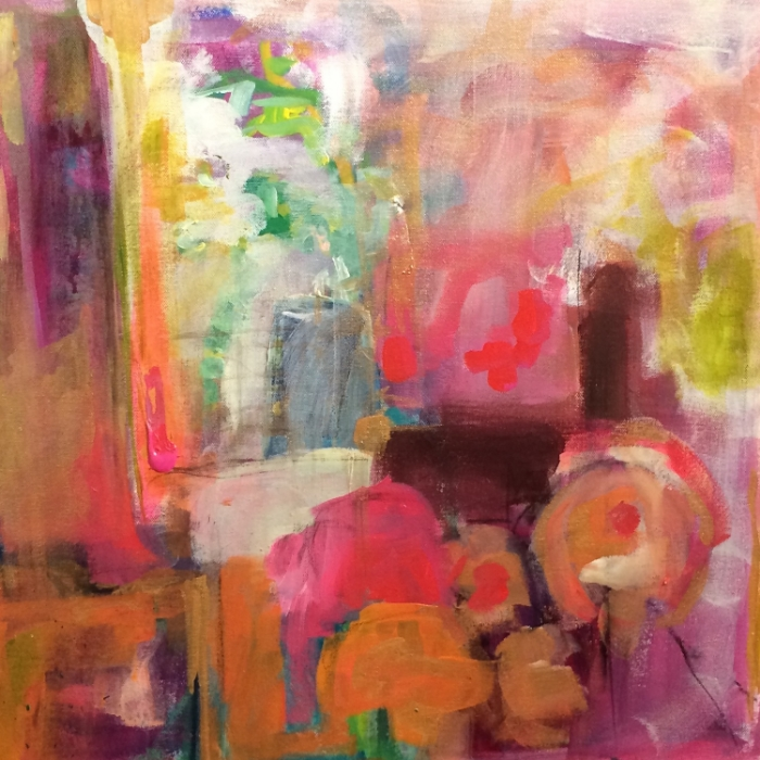 Sunday Morning 20 in. x 20 in. acrylic on canvas   sold