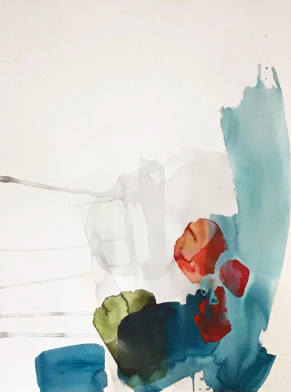 TENDER #2 22 in. x 30 in. acrylic on paper